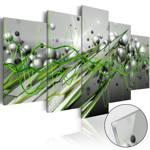 Obraz na szkle akrylowym - Zielony rytm [Glass]
